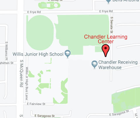 Map to Chandler Learning Center