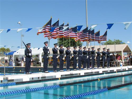 Presentation of Colors at State Swim Meet