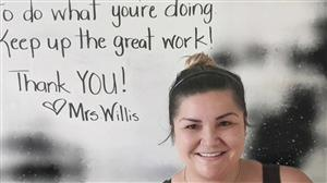 Thank You! Staff Photo of Mrs. Willis