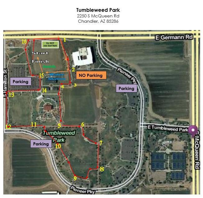 Tumbleweed Park Map