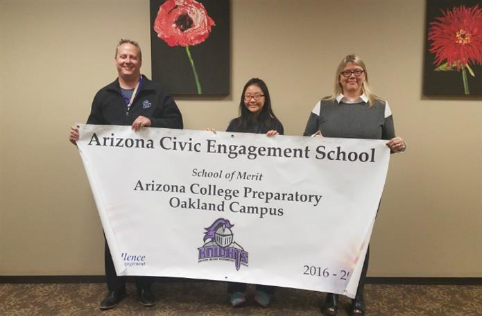 Arizona Civic Engagement School, School of Merit