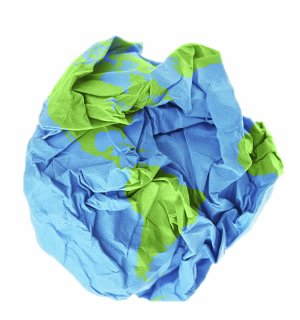 crumpled paper looks like Earth