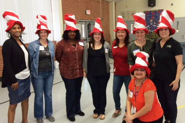 Volunteers for Hartford's Read Across America Day celebration