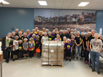 Conley Elementary Staff and Student Council at Feed My Starving Children