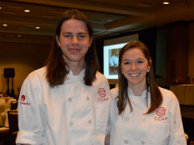 Braelyn Deem and Damian Rohman, Basha CCAP (Careers through Culinary Arts Program) Students