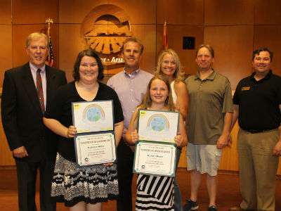 Rylee Olson, winner in this year's City of Chandler Environmental Art Contest