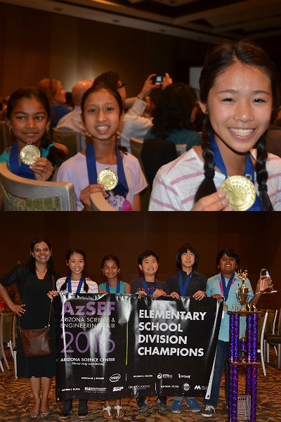 Knox Gifted Academy winners at AzSEF