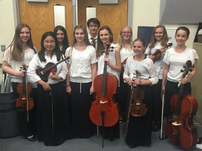 SJHS Orchestra Students