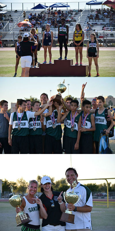 Santan 7th and 8th grade Boys/Girls Track & Field East Valley Conference Boys/Girls Champions