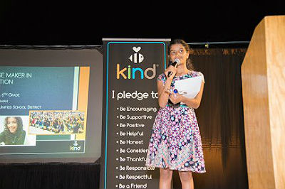 Diya Sarat, Be Kind Project Student Changemaker in Education