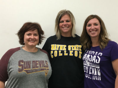 SJHS Teachers Megan Jeffers, Melissa Stanley, and Sarah Winzeler