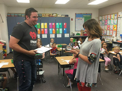 Kindergarten teacher, Shirley Lenz, KNIX's Teacher of the Week