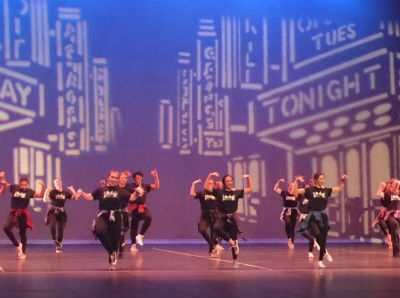 The Chandler High Dance Department performing Revival at the Chandler Center for the Arts