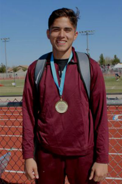 Track and Field athlete Noah Figueroa