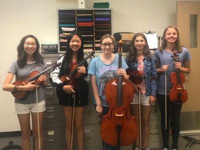 Five Bogle Orchestra students performed with 2017 All-State Junior High Orchestra