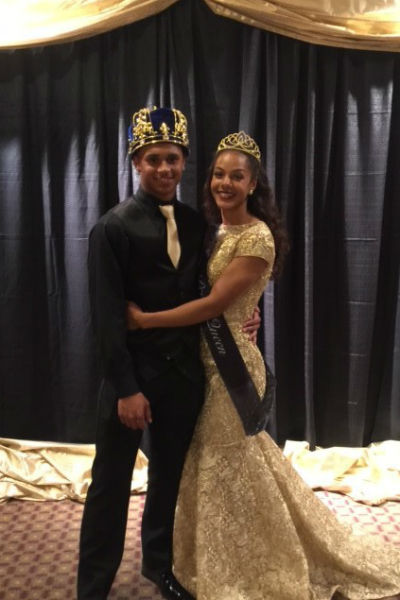 Cito Hemphill Toledo and Tiana Poirier-Shelton, Prom King and Queen