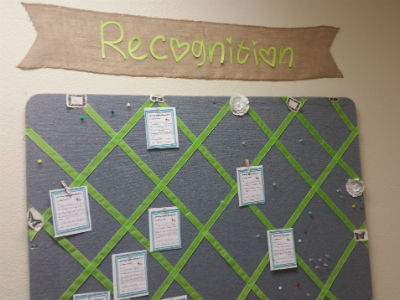 Staff Recognition Board