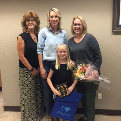 Ashley Partusch, September Student Citizen of the Month