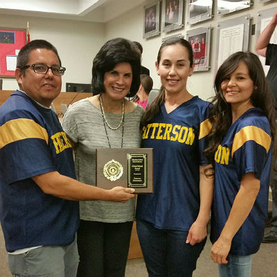 Patterson Custodians, Clean School Award