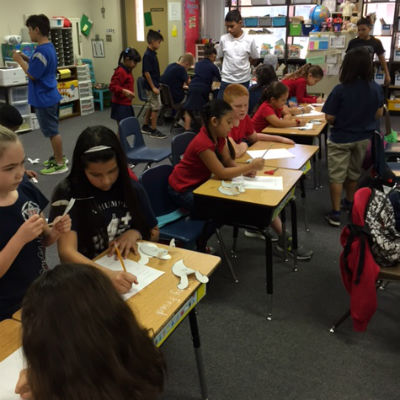 1st and 6th Graders STEM Activity
