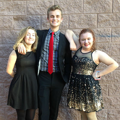 Kaitlyn DuPuis, Carson Call, and Mandy Wright