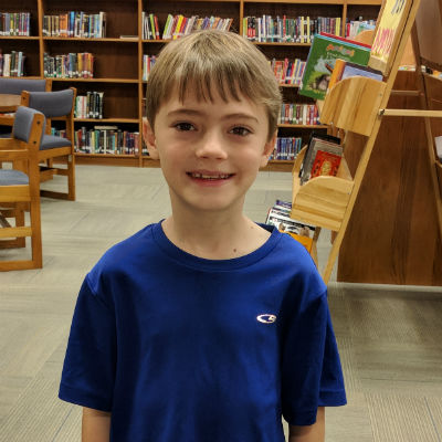 Jackson Scott, third grade student at Tarwater