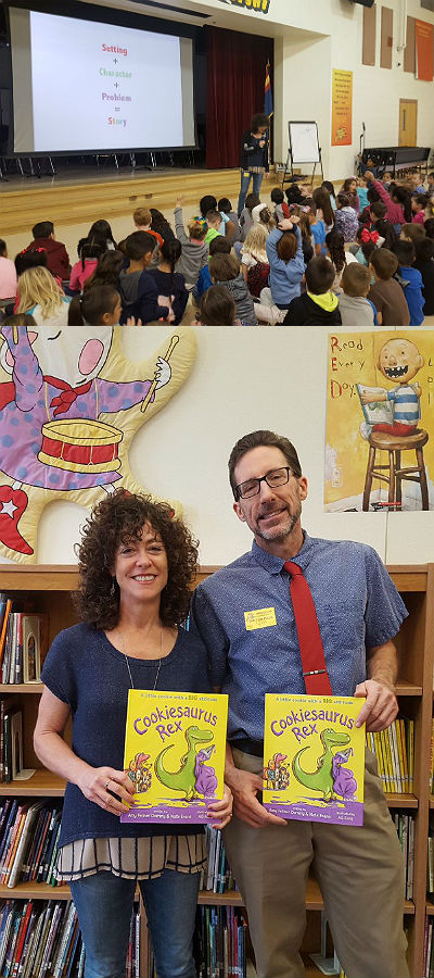 Author visit from Amy Dominy and Nate Evans