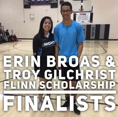Seniors Erin Broas and Troy Gilchrist