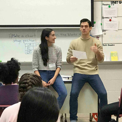 Hamilton Theater students hear from talented actors