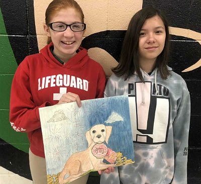 Basha AMS 7th graders Sofia Llanos and Samantha Qian