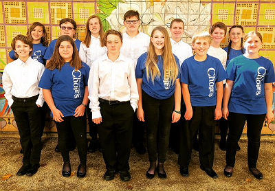 Willis Junior High School Choir members at Western Region American Choral Directors Association Conference
