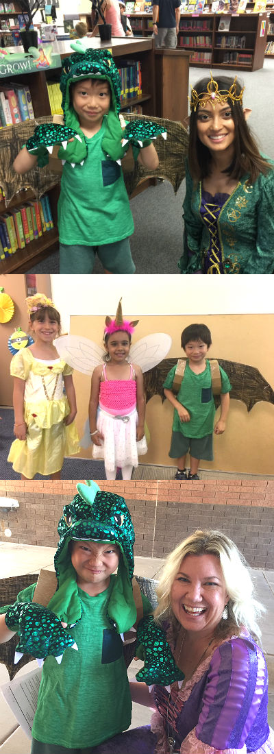 Yuto, winner of best-dressed first grader in the Enchanted Forest Book Fair costume contest