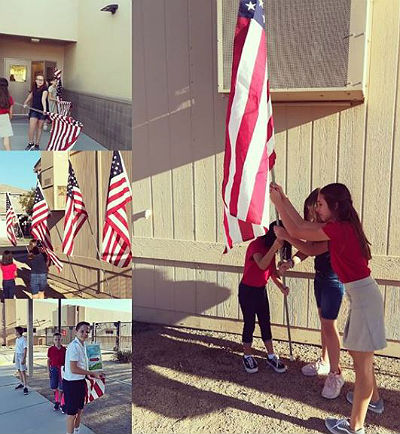 Freedom Falcon Flag Raisers