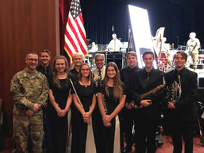 Eight Chandler High band members