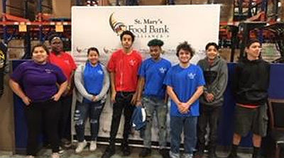 Volunteering at St. Mary's Food Bank
