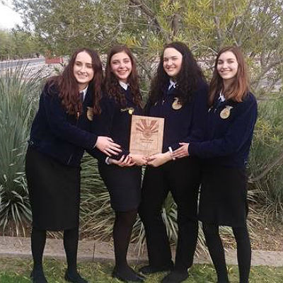 BHS FFA State 1st place winning team: Floriculture