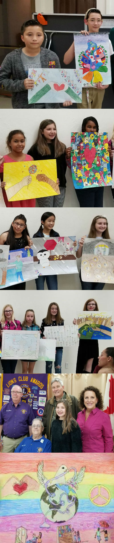 Sun Lakes Lions Club Peace Poster Contest Winners