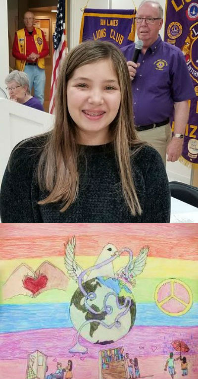 Alexandra Adams, Lions Peace Poster Contest State Winner