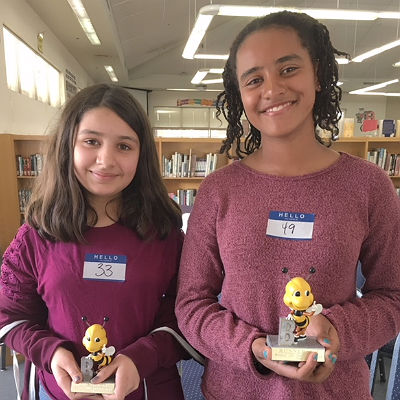 NIkasha Kapadia (champion) and Ava McPhail (runner-up)