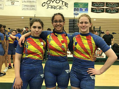 Stefana Jelacic (Section 1 Champ), Carla Rivas (Section 1 Runner-Up), Ryleigh Dye (3rd place Section 1)