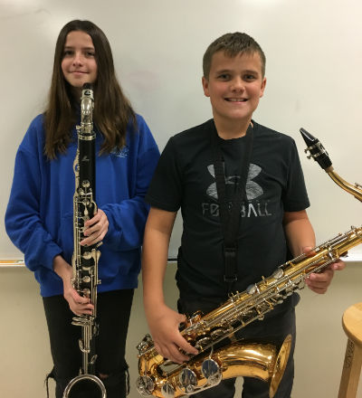 Weinberg Band Students