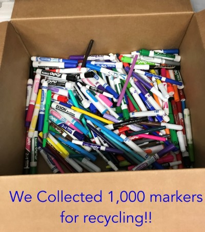 We collected 1,000 markers for recycling!