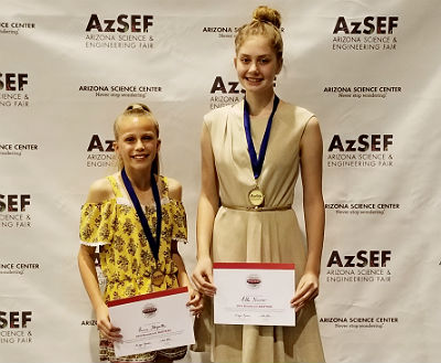 Willis Junior High AzSEF Winners