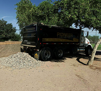 Pioneer Landscaping Rock Donation