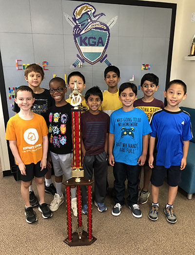 1st place chess team