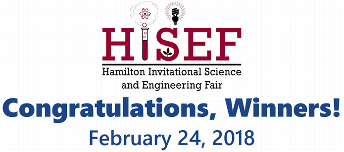 Congratulations, HISEF Winners!