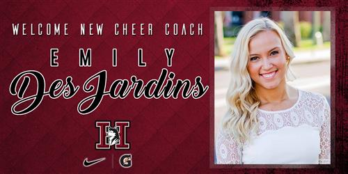 Welcome new cheer coach Emily DesJardins