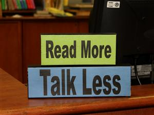 Read More Talk Less
