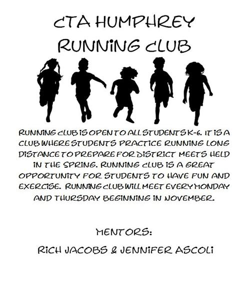 Running Club flyer with information