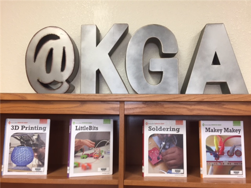Maker books in KGA Library